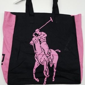 Polo Ralph Lauren Canvas Tote Pink Pony